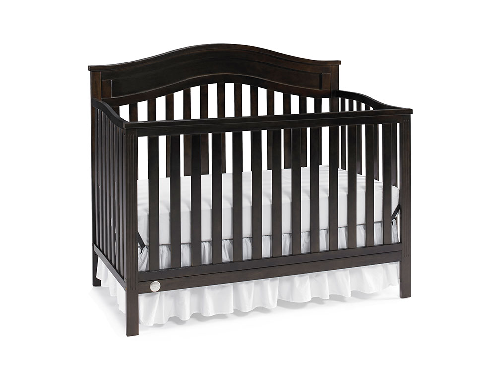 Aubree Collection Convertible Crib - Dark Roast | Modern Fisher-Price® Baby Furniture by Bivona & Company