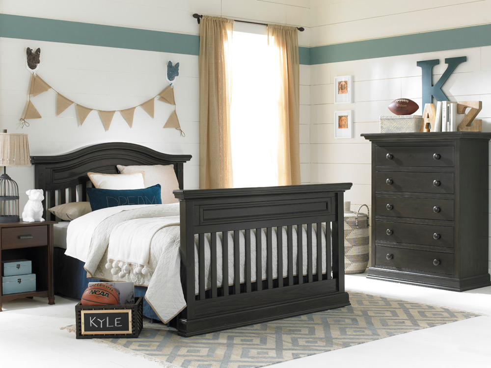 Maximo Collection Full Bed - Dark Roast | Modern Baby Furniture by Dolce Babi