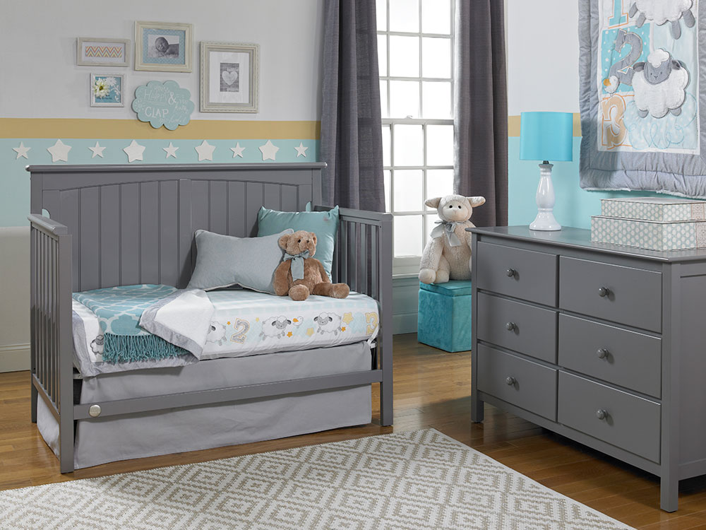 Colton Collection Daybed - Stormy Grey | Modern Fisher-Price® Baby Furniture by Bivona & Company